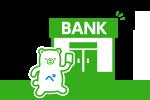チャージできる銀行が増えました!