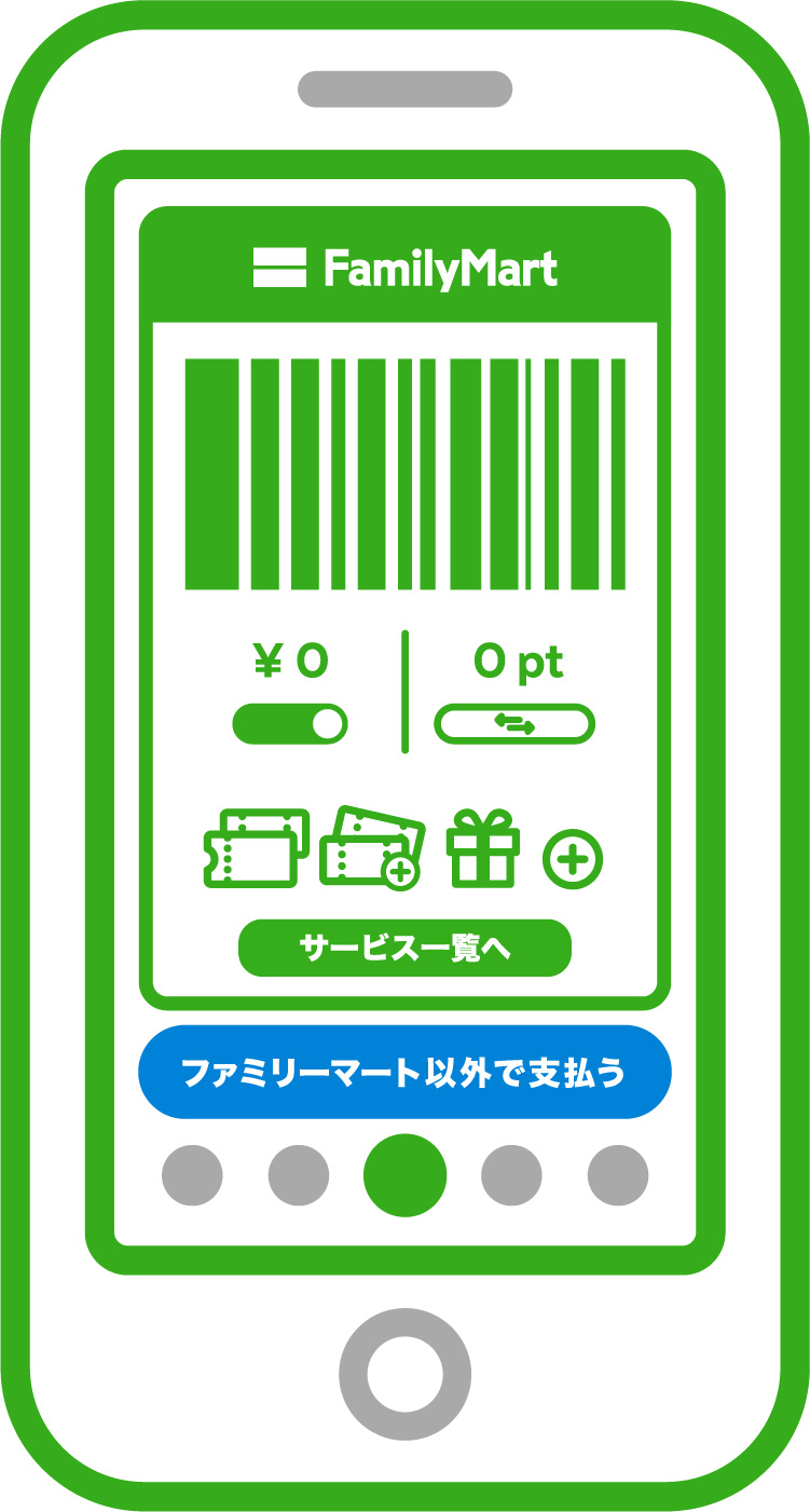 お店の人にバーコードを見せて、「FamiPayチャージ」とお伝えください。