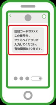 入力した電話番号宛てに認証コードが届きます。